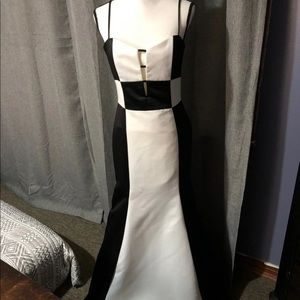 Color Block Formal Gown